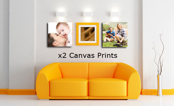 2x 300mm by 300mm Block Mounted Canvas Prints and more