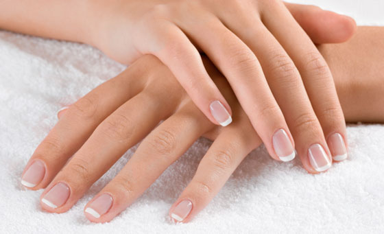 Relaxing spa manicure, hand exfoliation, gelish nail polish and more