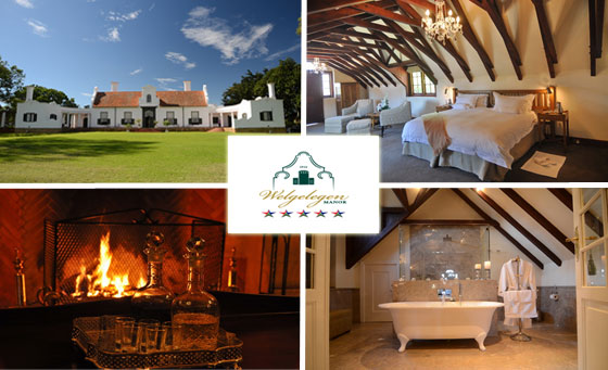 A 2-night stay for 2 at the 5-star Welgelegen Manor in Balfour