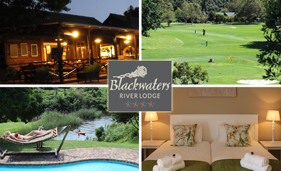 Overnight Knysna escape for 2 people at Blackwaters River Lodge