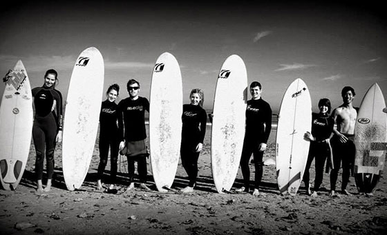 A personal group surfing lesson with Surf Big Bay