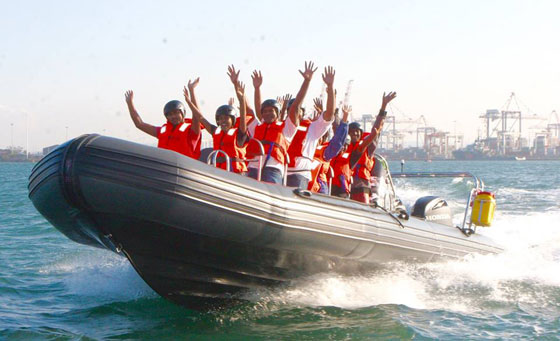 Experience the fastest high-speed water ride on Durban's coast line