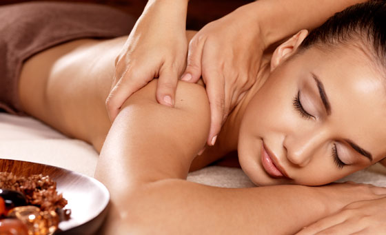 Spa package that includes a full body massage, manicure and more