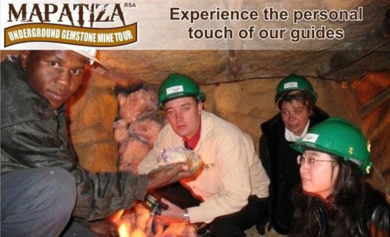 A 30 minute Mapatiza underground gemstone mine tour 2