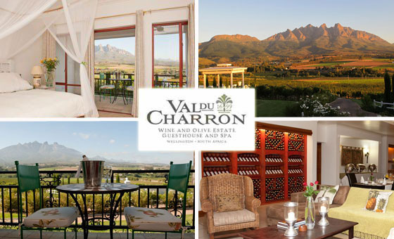 An overnight stay at the exquisite 4 star Val du Charron Guesthouse