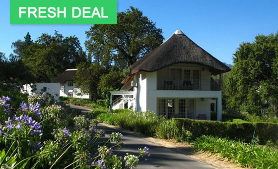 An overnight stay for 2 at the 4 star Villas at Le Franschhoek