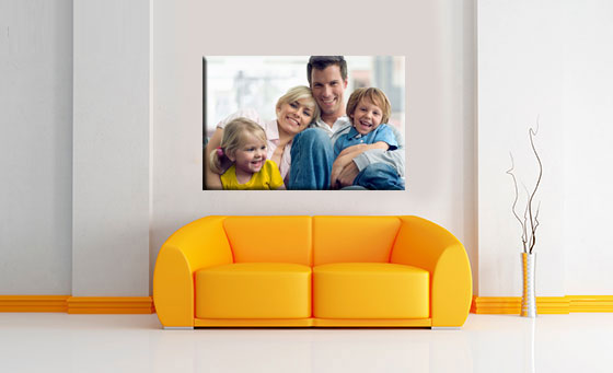 A high quality, personalised A1 stretched canvas print