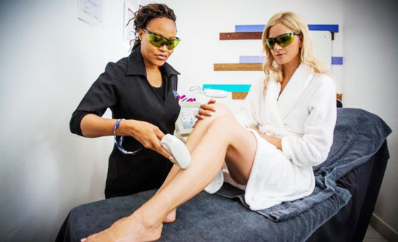 A laser hair removal session on any one area at The Laser Beautique