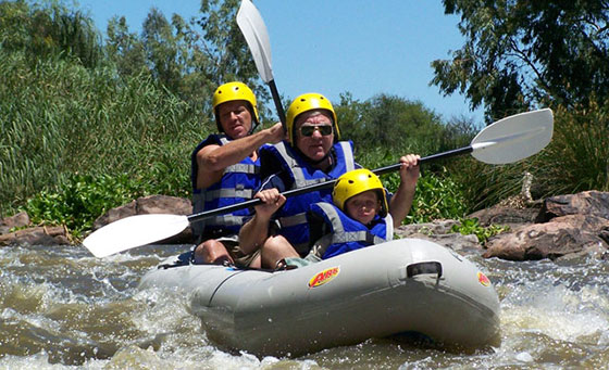 A 3 hour white river rafting experience with Earth Adventures