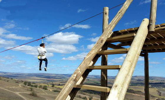 400m zip-line adventure for 2 with Highstakes Venue