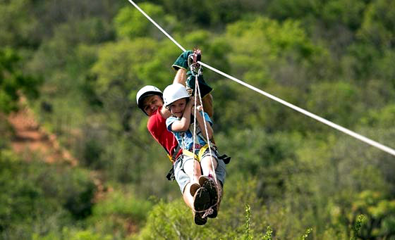 A 1200m zipline experience for 2 with Koepal Mega Zip Adventures