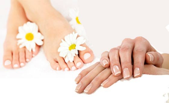 A full manicure and full pedicure including Gelish nails and more