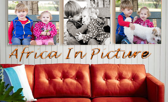 Display family photos proudly with Africa in Picture