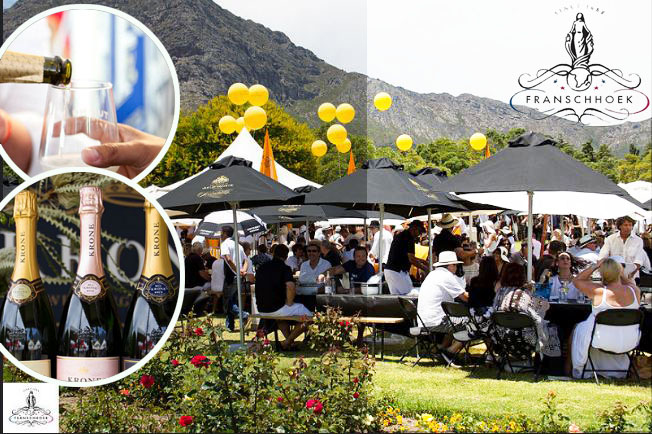 A perfect way to spend a Sunday, drinking champagne at the Franschhoek Cap Classique & Champagne Festival