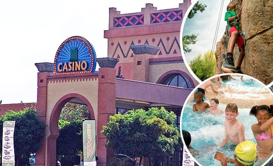 A fun day out for 2 adults and 3 kids (under 12) to Emerald Resort and Casino
