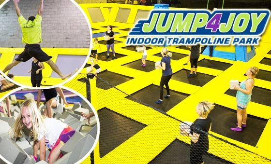 A fun and active jumping session at Jump4Joy, valid for 2 people.