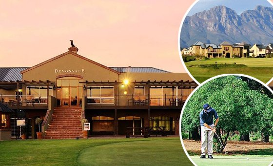 An avid golfer and wine enthusiast's ultimate getaway for two at the stunning Devonvale Golf and Wine Estate