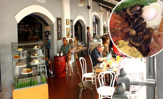 A scrumptious breakfast for 2 people at Café Alfredo in the V&A Waterfront