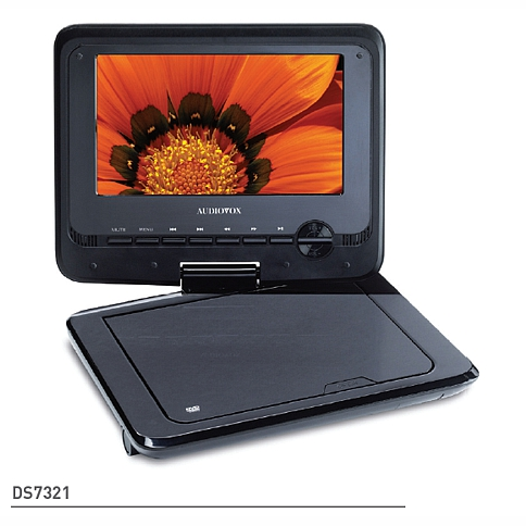 Audiovox Ds7321 7 Inch Swivel Portable Dvd Player Kit