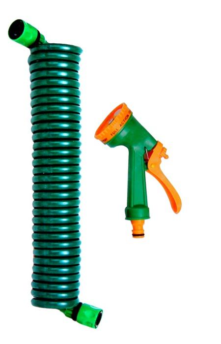 20m Coiled Garden Hosepipe