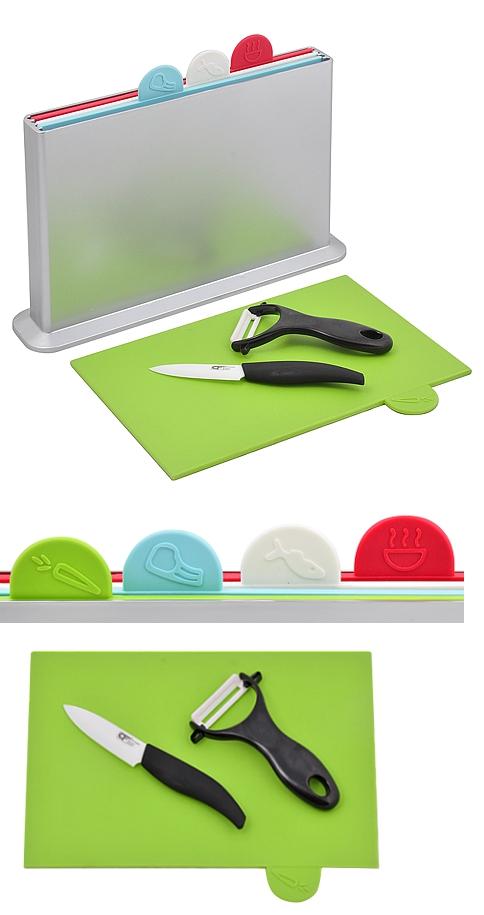 Index Food Preparation Boards Ceramic Knife And Peeler