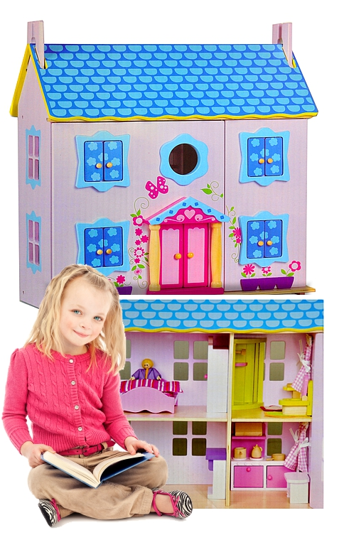 Beautiful Classic Wooden Dolls House A Little Girls Dream Come True