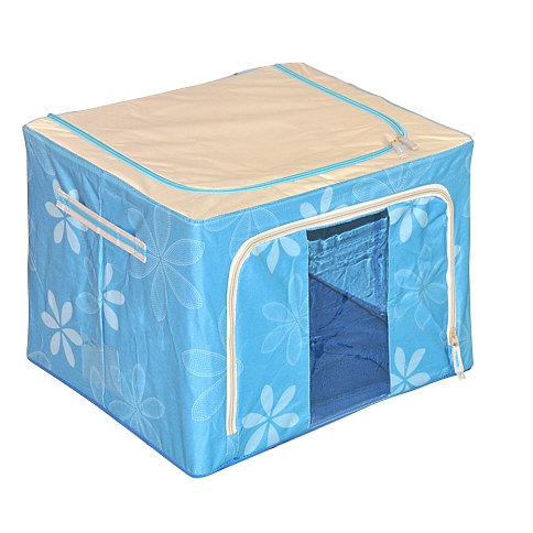 Multipurpose Single Shelf Storage Box With Window Blue
