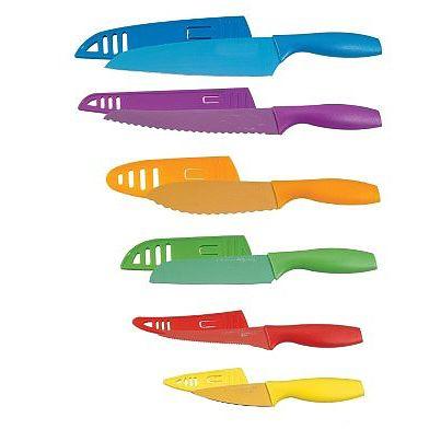 12 Piece Knife Set With 6 Knives