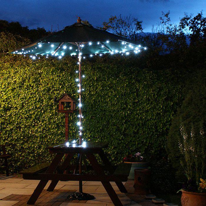 Set Of 2 White Solar Fairy Lights 10m Each