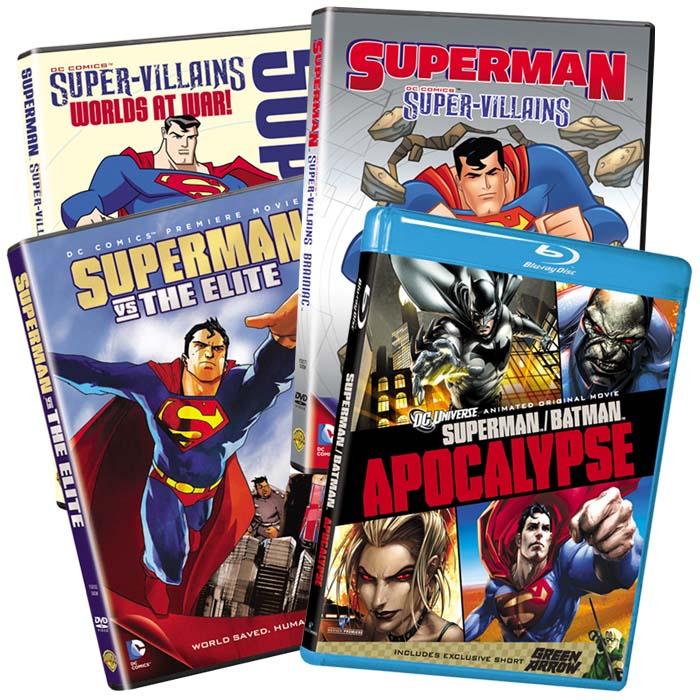 Superman Bundle 6 Titles 8 Discs
