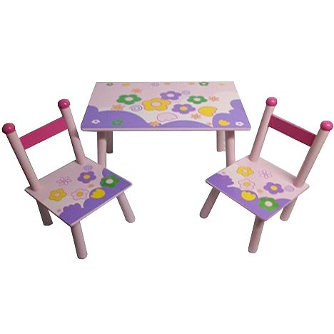 Rectangular Table And Square Chairs Flowers