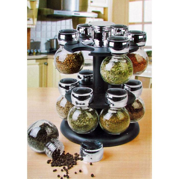 12 Piece Glass Spice Jar Set