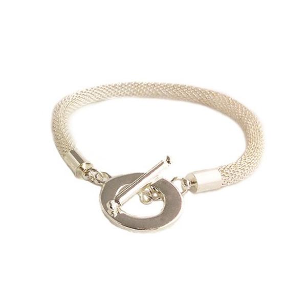 Silver Designer Inspired Toggle Bracelet