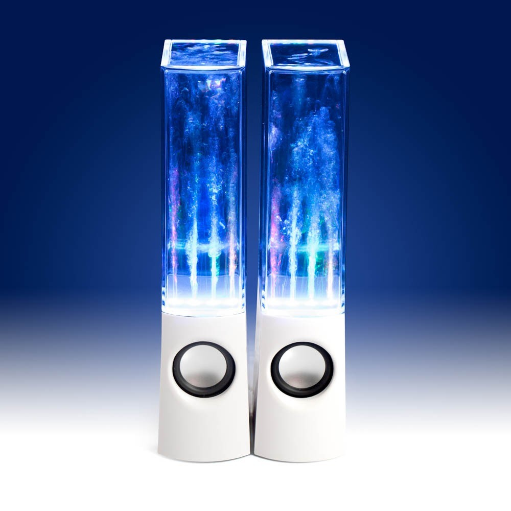 White Water Dancing Music Fountain Led Speakers Set Of 2