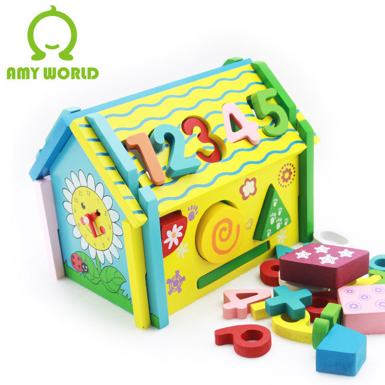 Numbers House Wooden Toy