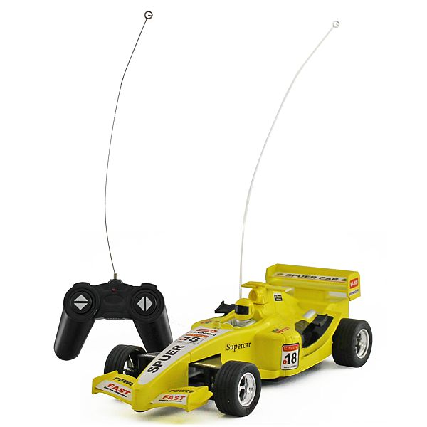 Rc F1 Car Yellow 6.5cm Long