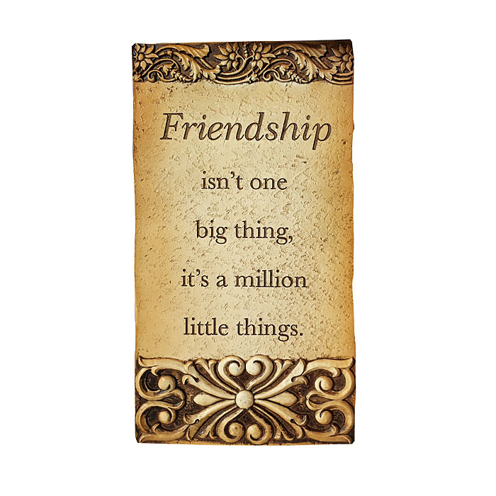 Friendship Isnt Plaque 17 X 33cm