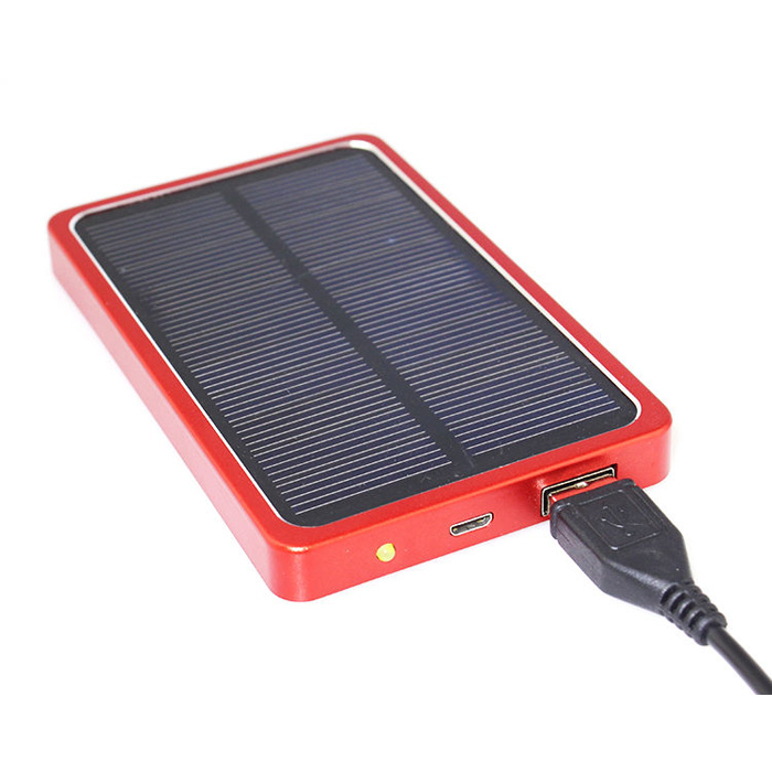 Solar Power Bank 4400ma Red