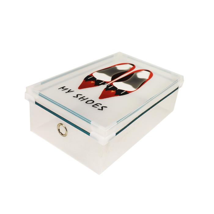 Shoe Box Black Ribbon 18 X 31 X 30cm