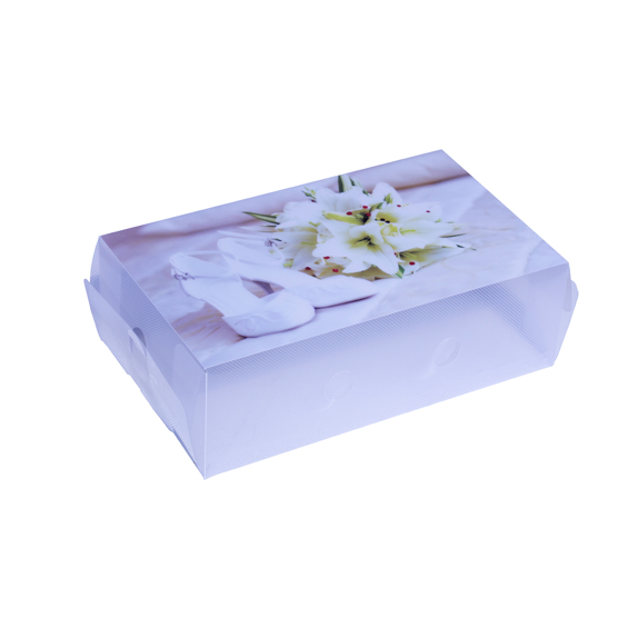 Shoe Box White Lily 18 X 31 X 30cm