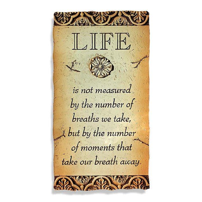Life Is Not Measured Plaque 17 X 33cm