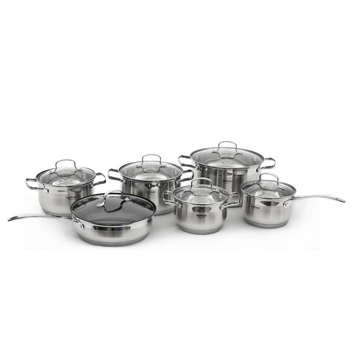 Stainless Steel 12pc Pot Set 5 Layer Base