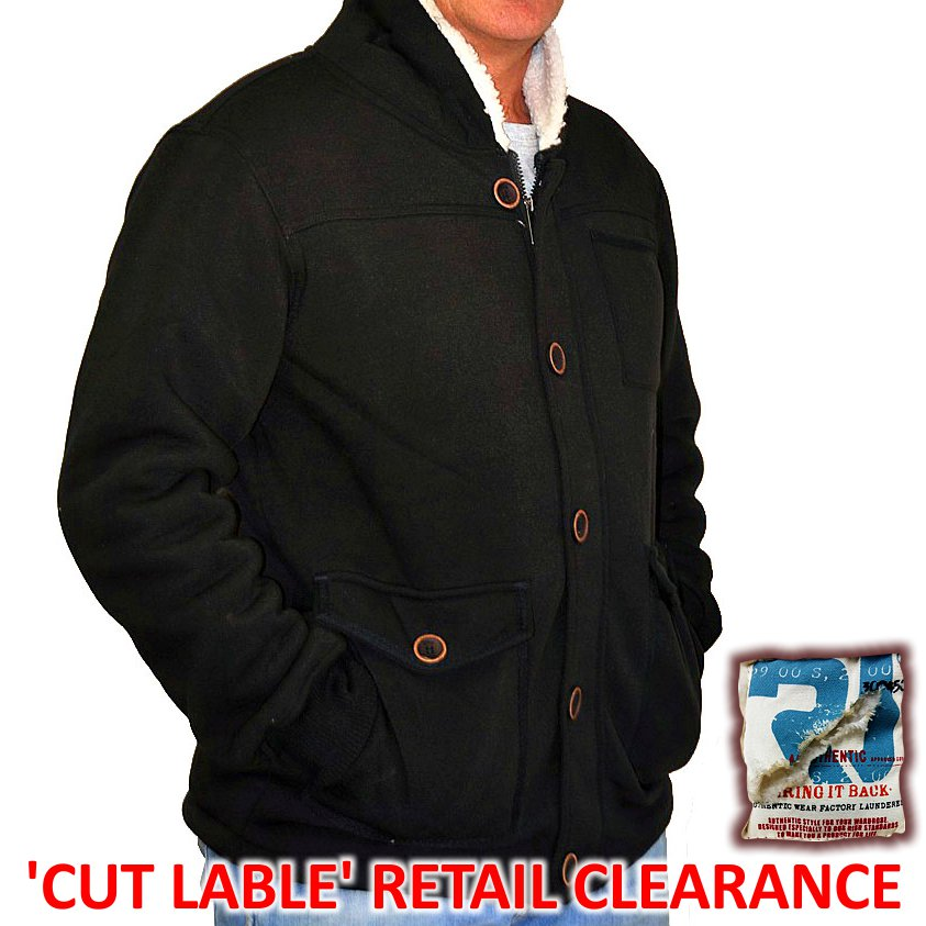 Men'S Faux Wool Lined Jacket 'Medium' Large 'Cut Lable' Clearance
