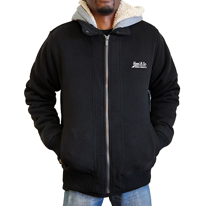 Fully Lined Sherpa Jacket With Hood