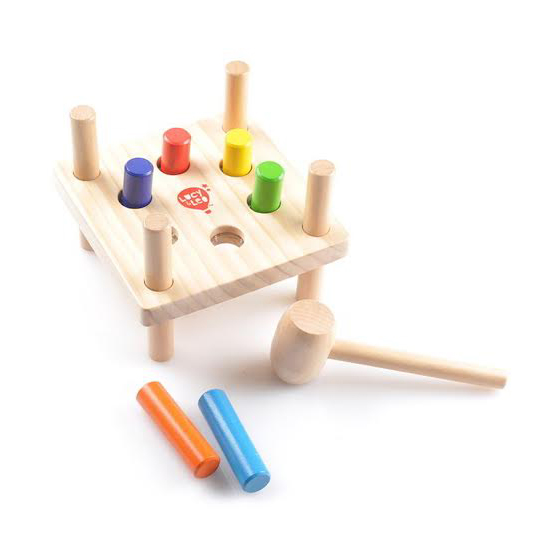 Wooden Hammer And Pegs