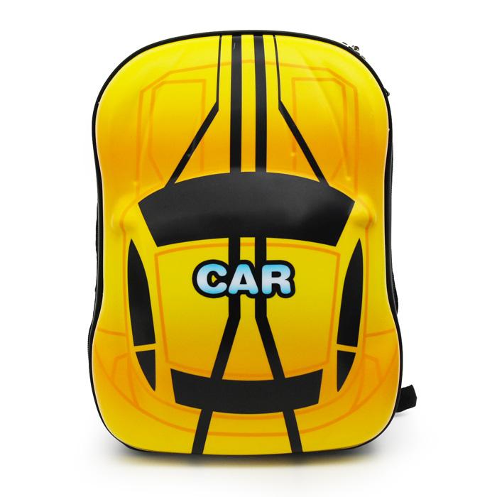 Kids Hard Backpack Car Yellow