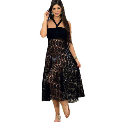 Multifunctional Beach Cover Up Dress Black