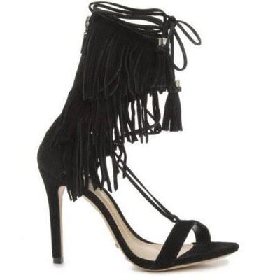 Black Fringed Shoe
