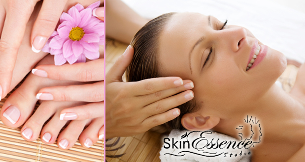 Get a facial, acrylic French nails and a massage at Skin Essence Studio (Sandton) for R649 (value R913)