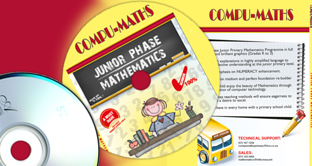 Show your child the beauty of Maths with The Complete Junior Primary Mathematics Programme from Compu-Maths for only R249 (value R399)
